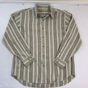 Tommy Bahama Silk Long Sleeve Button Shirt L